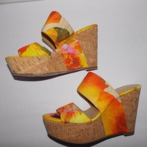 Nine West women's platform wedges heels size 7.5M